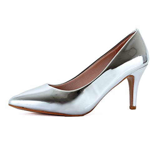 80614d51c6e5 Guilty Shoes Womens Classic - Closed Pointy Toe Low Kitten Heel - Dress  Slip On Pump