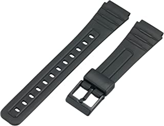 Voguestrap TX1852 Allstrap 18mm Black Regular-Length Fits Casio and Other Sport Watch Band