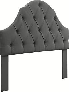 Ravenna Home Wolcott Adjustable Height Arched Tufted Headboard, Full / Queen Size Bed, Slate Grey