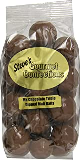 Steve's Gourmet Confections Triple Dipped Malt Balls in Milk Chocolate, 12 Ounce