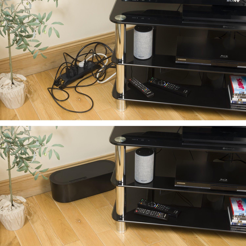 D-Line EU/CTULGEB/SW - Caja Organizadora de Cables, Negro, Grande ...