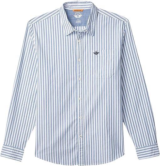 Delft Blue/Linder Stripe