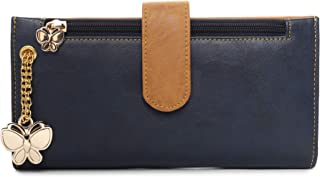 Butterflies Women Wallet For Ladies and Girl's (Navy Blue::Mustard) (BNS 2459NBL)