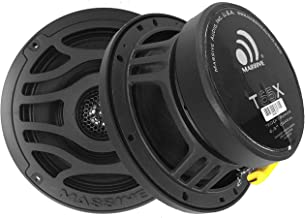 T65X - Massive Audio 6.5 Inch 120 Watts RMS / 480 Watts Peak, Marine Coaxial Speakers for Boats, UTVS, Off Road, Golf Carts, Motorcycles, Runabouts