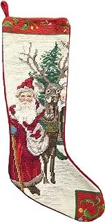 Bita Santa Christmas Stocking Needlepoint
