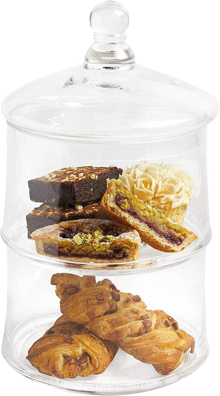 Kitchen Craft Master Class Artesa Stapeldose für Kuchen Kekse Kekse Kekse Glas Transparent 16 x 16 x 29 cm B00GGLIGY4 1d8be1