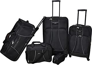 Skyway Softside spinner luggage set of 5 pieces, Black