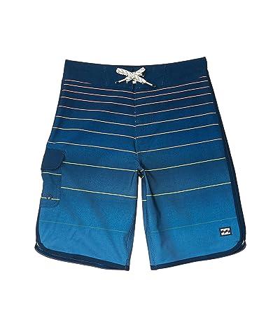Billabong Kids 73 Stripe Pro Swim Shorts (Big Kids) (Sunset) Boy