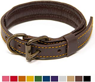 soft leather greyhound collars