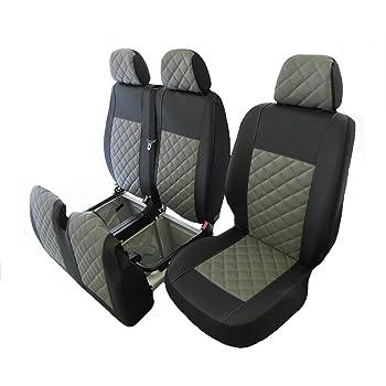 Sitzbezüge 1+2 Schonbezüge für FORD ohne Seitenairbag Grau//Schwarz AS7333