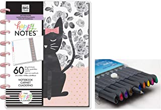 me & My Big Ideas: Medium/Classic Happy Notes One of a Kind Notebook and Comes with Kemah Craft 10 Pc Fineliner Color Pen (PLNO-27)
