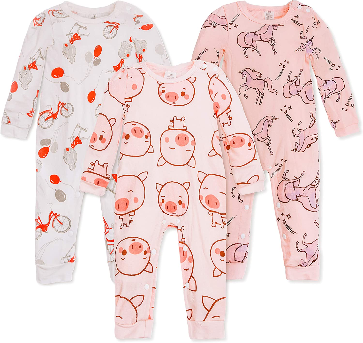 Baby Girl Dresses Footless Pajamas Baby Boy Baby Jumpsuit Baby Custumes Size 6m to 24m