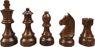 Piezas de ajedrez de madera + aterciopelada, 3,75Acero fino, modelo estándar, König Altura 95mm profesional Jugadores y competición
