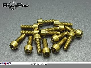 M4 x 10mm x 0.7mm RacePro 8x Titanium  Tapered Socket Bolt Torx Natural