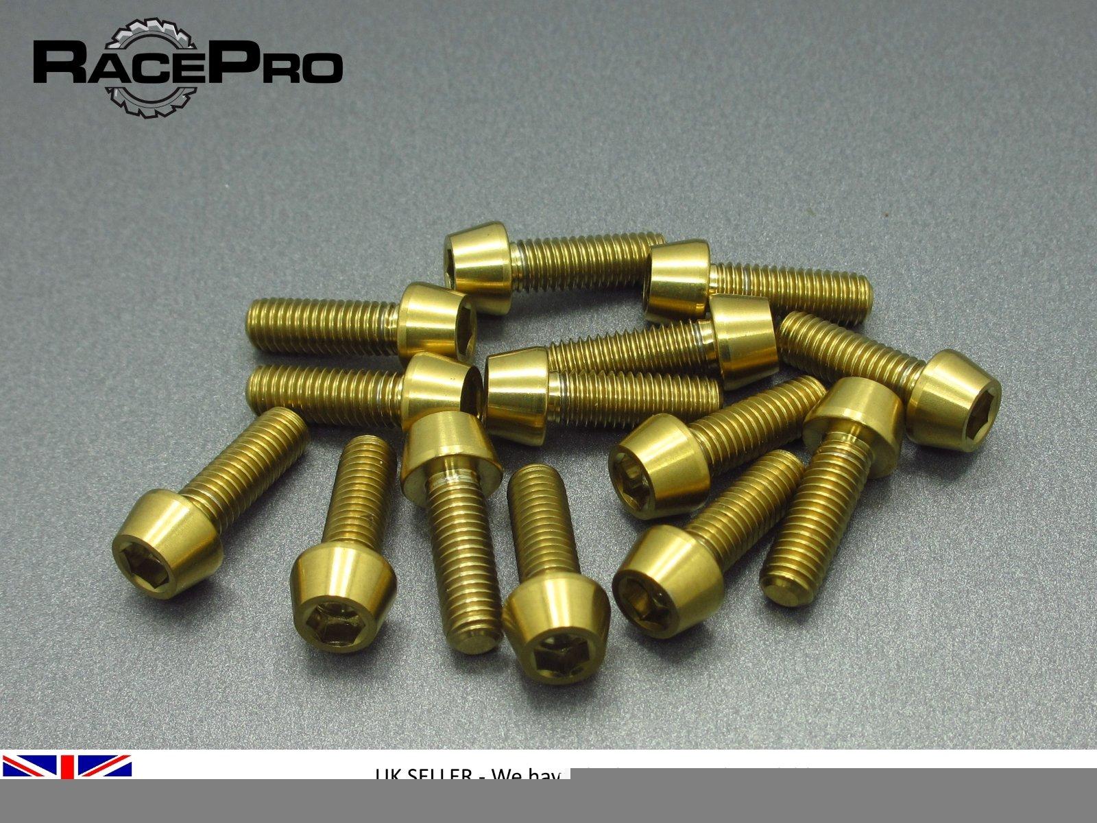 4x Titanium  Parallel Socket Bolt Allen RacePro M4 x 10mm x 0.7mm Green
