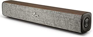 Kahula by Lava | Mini Sound Bar & Portable Bluetooth Speaker, Compact Design ideal for PC's, Laptops and TV or simply use wireless with Phone, Tablet and other smart devices – Grey & Walnut
