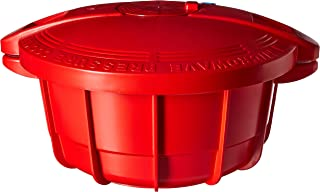 TTK Prestige PRMPC4R pressure cooker, 4 L/Medium, Red
