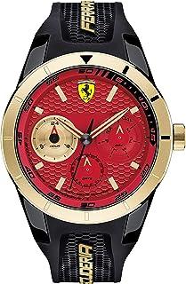 Ferrari Mens Quartz Watch, Analog Display and Silicone Strap 830386