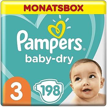 Pampers Baby-Dry Windeln, Gr. 3, 6kg-10kg, Monatsbox (1 x 198 Windeln)