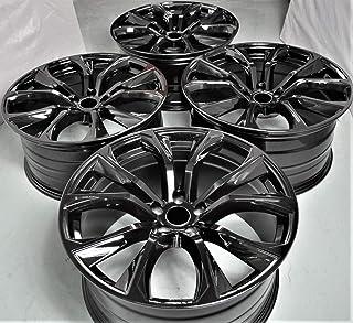 "22"" Inch Staggered Black Wheels Rims (Full Set of 4) fit BMW X5 X5M E53 E70 F15 X6 X6M E71 F16 1262 B"