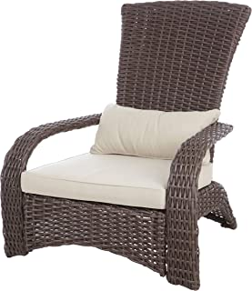 Fire Sense 62172 Coconino Wicker Chair, Mocha Deluxe