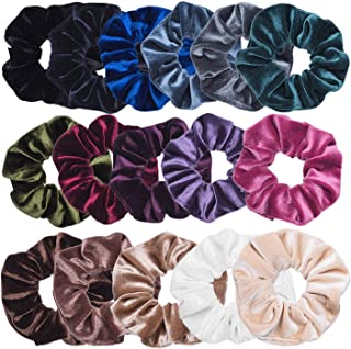 16 Pack Hair Scrunchies Velvet Scrunchy Elastics Bobble Hair Bands Ties Scrunchies