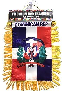 La república dominicana carro banderas espejo retrovisor coche auto camioneta suv camioneta para auto o casa