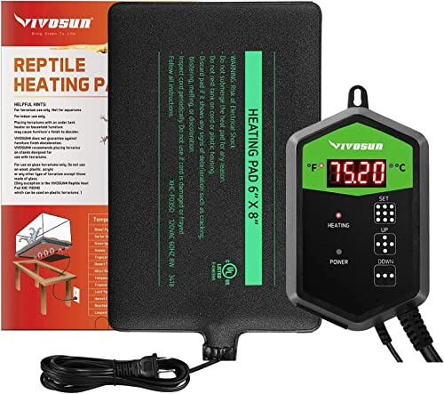 lowest VIVOSUN outlet sale Reptile Heat Mat and Digital Thermostat popular Combo outlet online sale