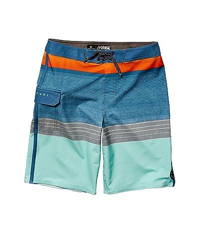 Rip Curl Kids Mirage Horizon Boardshorts (Big Kids) (Orange Popsicle) Boy