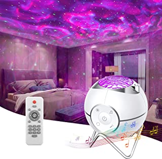 Sponsored Ad - Star Projector, Galaxy Night Light Projector for Bedroom, Galaxy Light with Ocean Wave Projector, 5 White N...