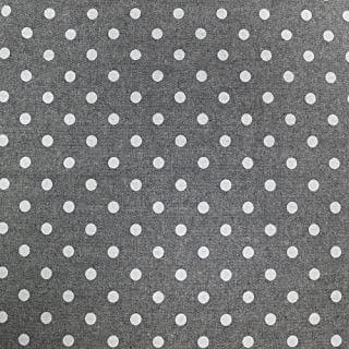 Black Polka Dot 58`` Chambray Cotton Fabric by The Yard or Sample Swatch (Yard)