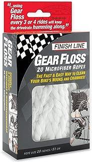 Finish Line GF0204801 Cordón de Microfibra para Limpieza de Transmisión Gear Floss, 20 Piezas