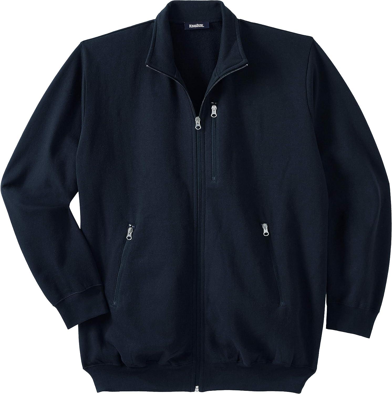 KingSize Men's Super Max 68% OFF Special SALE held Big Tall Full-Zip Jacket Fleece