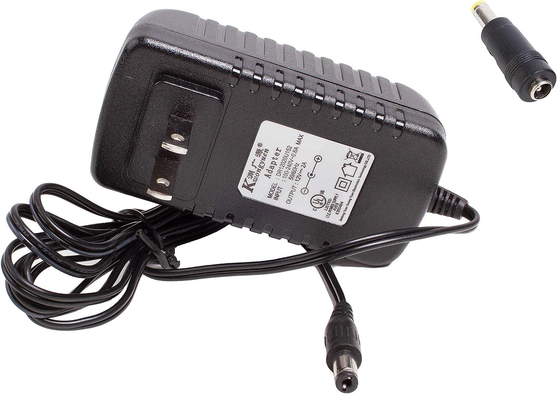 UL AC Power Adapter Driver 12v 24W 2A 5.5mm x 2.1mm DC Plug + 5.5mm x 2.5mm Adapter (24w)
