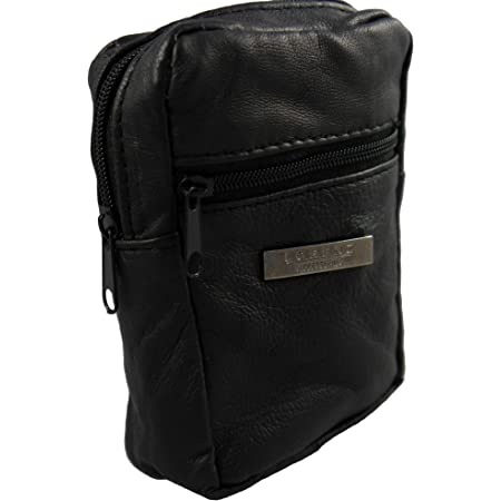 Cigarette/Lighter Purse Real Soft Leather 2 Compartments - Black