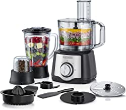 Black+Decker 600W 29 Function Food Processor with Blender, Grinder & Juicer , Silver/Black - FX650-B5, 2 Years Warranty