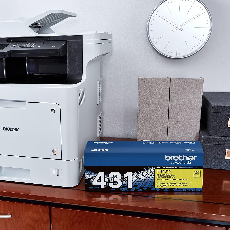 Brother Printer TN431Y Standard Yield Toner-Retail Packaging , Yellow