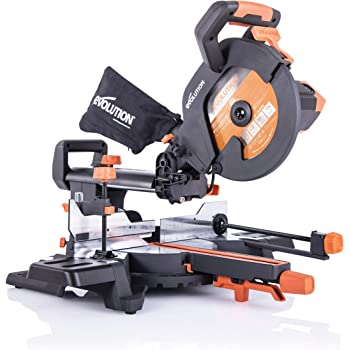 Evolution Power Tools - R255SMS+ Mehrzweck-Gleit-Gehrungssäge mit Plus Pack, 255 mm (230V)