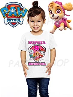 Paw Patrol Girls Birthday Shirts, Paw Patrol T Shirts, Birthday Party, Add Any Name and Age, Family Matching Shirts, Girls Birthday Shirts, Paw Patrol Birthday Shirt 2