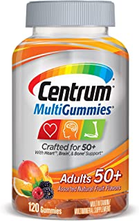 Centrum Multivitamin Gummy for Adults 50 Plus, Assorted Flavor, Fruit, 120 Count