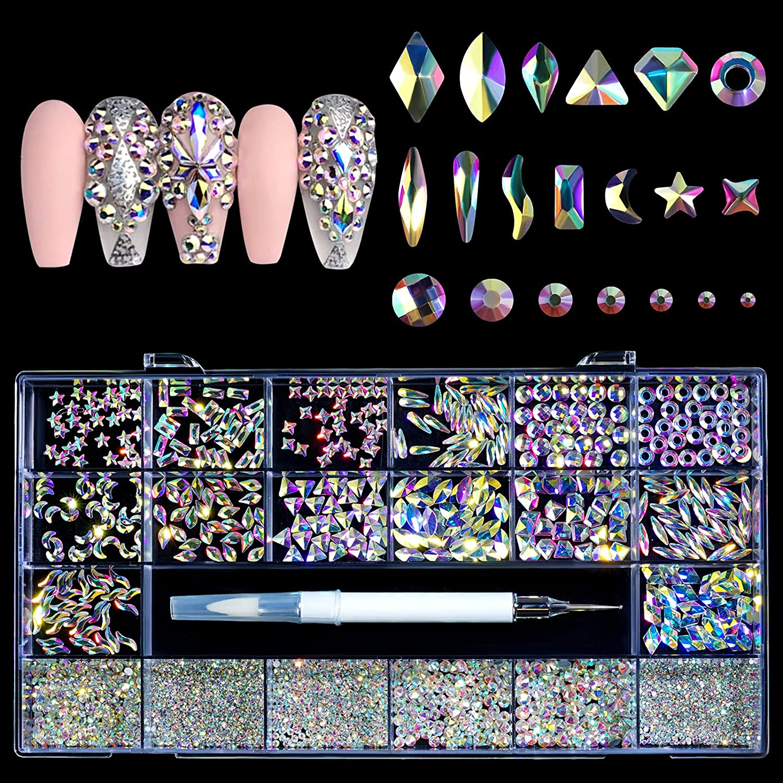Rhinestones for Nails Max 70% OFF Nail Decorations Memphis Mall C Jewels Gems