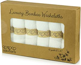 PSL Naturally Organic Bamboo Washcloths - Premium Quality Ultra Soft Luxury Baby Bath Towel Set - Perfect Baby Shower Gift, Suitable for Sensitive Skin - by PSL Solutions
