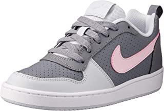 Nike Court Borough Low (GS) Girls Trainers, Cool Grey/Pink Foam-Pure Platinum