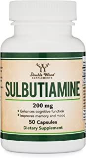 Sulbutiamine Capsules (Nootropic Supplement for Memory, Motivation, Mood, and Focus) Lifts Brain Fog - Made in USA, 50 Count 200mg by Double Wood Supplements