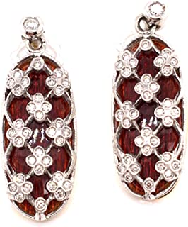 TINELLI Orecchini in Oro 18K Diamanti Naturali SMALTI