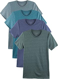 4 Pack Men's Everyday Cotton Blend Short Sleeve T-Shirt
