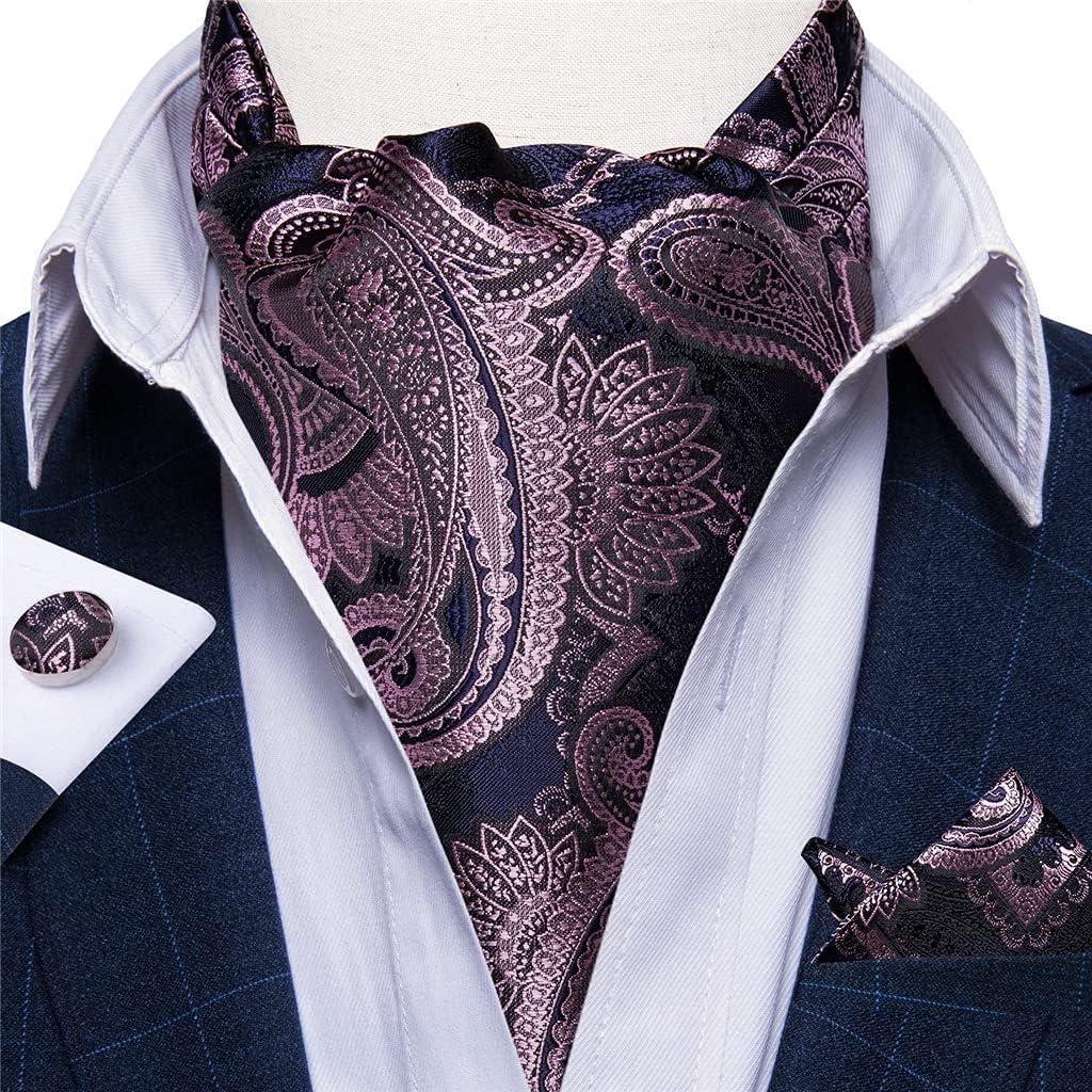 CFSNCM Mens Tie Set Floral Cravat Tie Homme Silk Vintage British Style Self Tie For Wedding Party Suit Accessories (Color : 9, Size : One size)