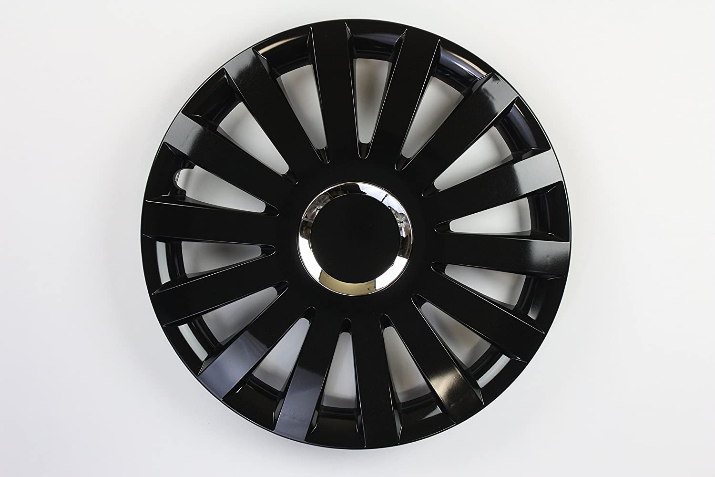 Zentimex Z731701 Radkappen Radzierblenden Universal 17 Zoll Black Auto