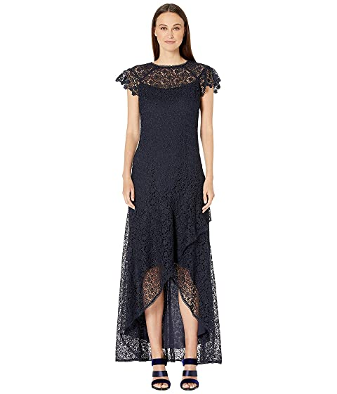 ML Monique Lhuillier High-Low Ruffle Dress