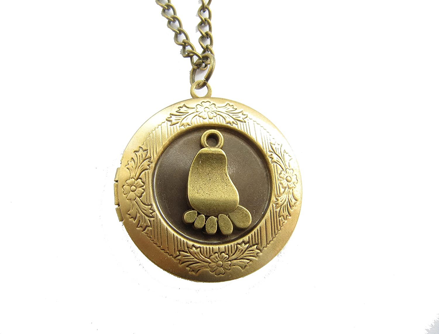 Baby Foot Locket Necklace Spring new work New mail order Gift E New for Gifts Mom